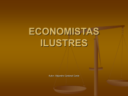 ECONOMISTAS ILUSTRES - ecobachillerato.com
