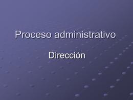Proceso administrativo - Facultad de Medicina UFRO