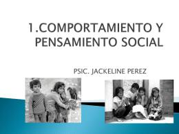 COMPORTAMIENTO Y PENSAMIENTO SOCIAL