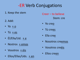 ER/IR Verb Conjugations