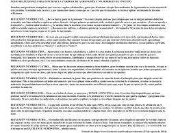 OCHO RELFEXIONES PARA ESTUDIAR LA CARRERA DE …