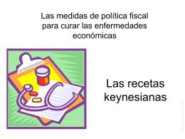 """Las recetas keynesianas"""
