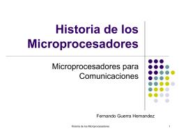 Historia de los microprocesadores