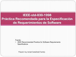 Norma IEEE-830