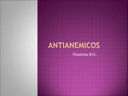 ANTIANEMICOS vit B12