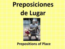Preposiciones de Lugar - River Dell Regional School