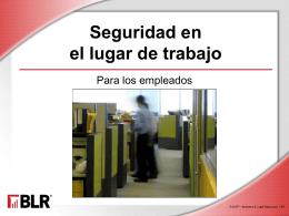 Seguridad en el lugar de trabajo