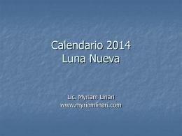Calendario 2014 Luna Nueva