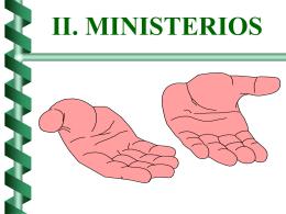 MINISTERIOS EN LA NUEVA EVANGELIZACION