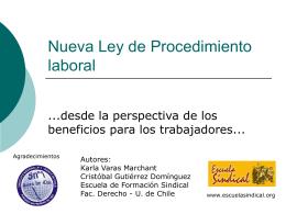Nueva Ley de Procedimiento laboral