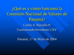 LA NUEVA COMISION NACIONAL DE VALORES DE …