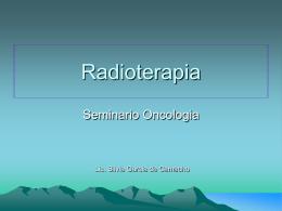 Radioterapia - Facultad de Medicina