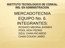 INSTITUTO TECNOLOGICO DE CONKAL. ING. EN …