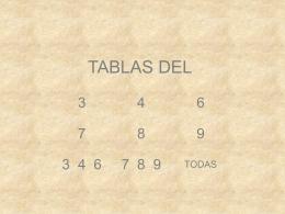 TODAS LAS TABLAS