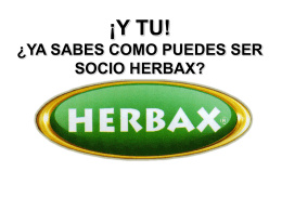 COMO SER SOCIO HERBAX