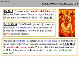 SEGUNDO MANDAMIENTO, 1