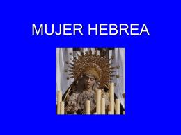 Mujer hebrea - Mariologia Maria Virgen Guadalupe …