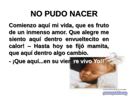 NO PUDO NACER - PowerPoints .org