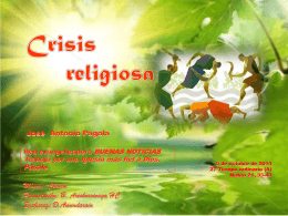 CRISIS RELIGIIOSA