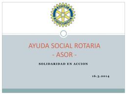 AYUDA SOCIAL ROTARIA (ASR)