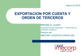 EXPORTACION POR CUENTA Y ORDEN DE TERCEROS