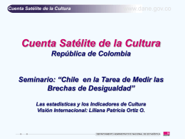 CUENTA SATELITE DEL SECTOR CULTURAL
