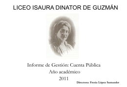 LICEO ISAURA DINATOR DE GUZMAN