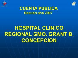 CUENTA PUBLICA HOSPITAL CLINICO REGIONAL GMO. …
