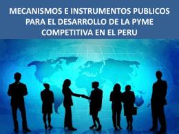 Mecanismos e instrumentos publicos para el desarrollo de