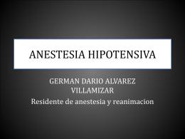 ANESTESIA HIPOTENSIVA