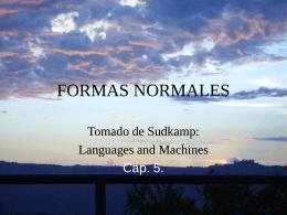 FORMAS NORMALES - Noticias | Facultad de Ciencias de la