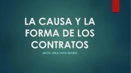 LA CAUSA Y LA FORMA DE LOS CONTRATOS