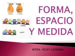 ESPACIO, FORMA Y MEDIDA