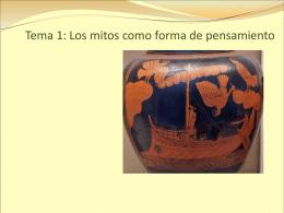 Tema 1: Los mitos como forma de pensamiento