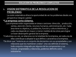 SOLUCION DE PROBLEMAS Y CONFLICTOS