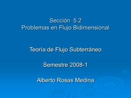 Problemas en Flujo Bidimensional