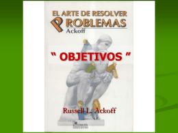 """EL ARTE DE RESOLVER PROBLEMAS """""""