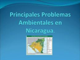 Principales Problemas Ambientales en Nicaragua.