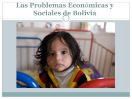Las Problemas Economicas de Bolivia