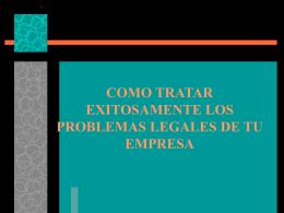 COMO TRATAR EXISTOSAMENTE LOS PROBLEMAS …
