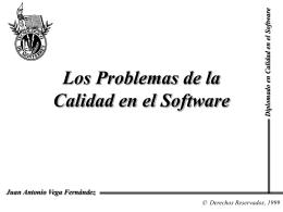 Los Problemas de la Calidad en el Software