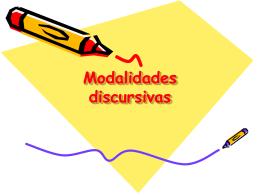 Modalidades discursivas - Precomunicacion2009 | Just