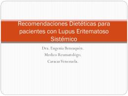 Recomendaciones Dieteticas para pacientes conLupus