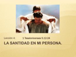 La Santidad en mi Persona. - Inicio ICIAR
