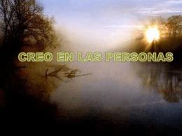 CREO EN LAS PERSONAS