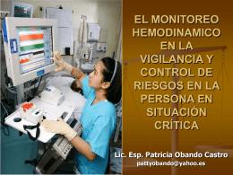 EL MONITOREO HEMODINAMICO EN LA VIGILANCIA Y …