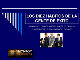 CURSO LOS 10 HABITOS DE LA GENTE CON EXITO