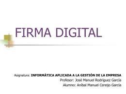 FIRMA DIGITAL - Pagina inicial de Templario.unex.es