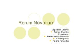 Rerum Novarum - Trabajo Social UDLA