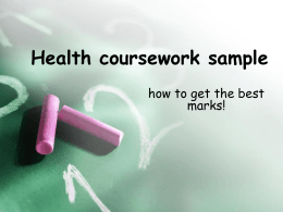 Health coursework sample